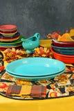 五颜六色的餐位餐具感恩 免版税库存照片