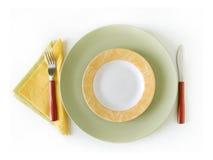 五颜六色的餐位餐具 免版税库存照片