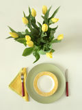 五颜六色的餐位餐具 图库摄影