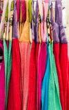 五颜六色的餐巾 免版税库存照片