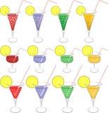 五颜六色的饮料 免版税库存图片