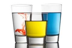 五颜六色的饮料 库存照片