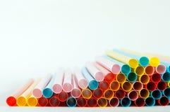 五颜六色的饮用的管子 图库摄影