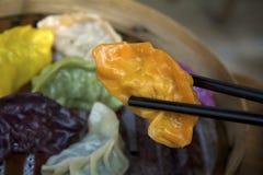 五颜六色的饺子 免版税图库摄影