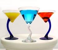 五颜六色的马蒂尼鸡尾酒 图库摄影