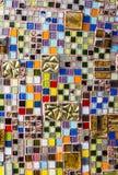 五颜六色的马赛克墙壁 图库摄影