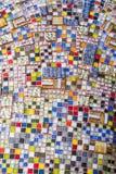 五颜六色的马赛克墙壁 库存图片