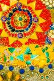 五颜六色的马赛克样式背景 由陶瓷做 免版税库存照片