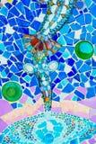 五颜六色的马赛克样式背景 由陶瓷做 免版税图库摄影