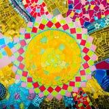五颜六色的马赛克样式背景 免版税库存图片