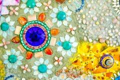 五颜六色的马赛克样式背景 免版税库存照片