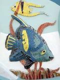 五颜六色的马赛克鱼 免版税库存照片
