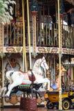 五颜六色的马转盘 免版税库存照片