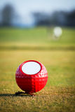 五颜六色的高尔夫球标记 免版税库存照片