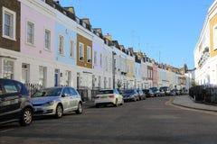 五颜六色的高级伦敦街 库存照片