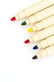 五颜六色的魔术笔 免版税库存照片