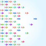 五颜六色的鱼传染媒介 向量例证