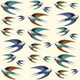 五颜六色的鸟样式 库存图片