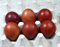 五颜六色的鸡蛋 图库摄影