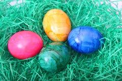 五颜六色的鸡蛋 库存图片