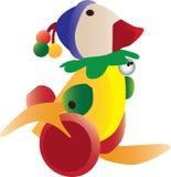 五颜六色的鸭子减速火箭的玩具 免版税库存照片