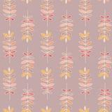 五颜六色的麦子无缝的样式有淡粉红的背景 免版税库存图片