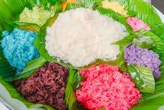 五颜六色的黏米饭 免版税库存照片