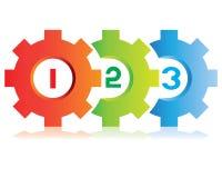 五颜六色的齿轮图 免版税库存照片