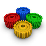 五颜六色的齿轮 库存照片