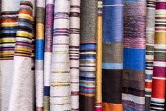 五颜六色的龙舌兰丝绸围巾 库存照片