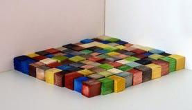 五颜六色的100个cm^2正方形 免版税库存图片