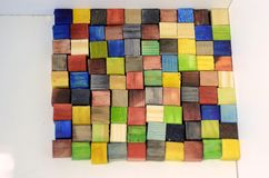 五颜六色的100个cm^2正方形 库存照片