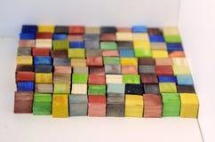 五颜六色的100个cm^2正方形 免版税库存照片