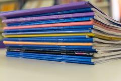 五颜六色的练习簿2 库存图片