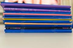 五颜六色的练习簿3 免版税图库摄影