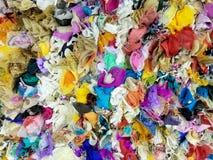 五颜六色的织品拼贴画 库存图片