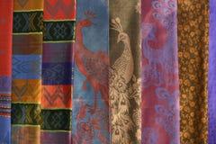 五颜六色的织品模式 免版税库存照片