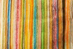 五颜六色的织品纹理 免版税库存图片