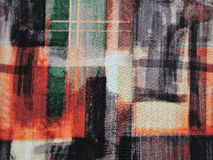 五颜六色的织品纹理 图库摄影