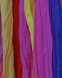 五颜六色的织品背景品种  免版税库存照片