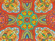 五颜六色的织品设计 免版税库存照片