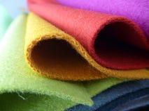 五颜六色的织品选择品种  库存照片