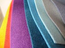 五颜六色的织品选择品种  免版税图库摄影