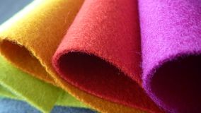 五颜六色的织品选择品种  图库摄影