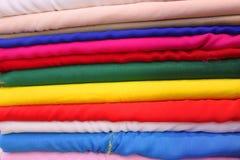 五颜六色的织品 库存照片