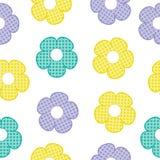 五颜六色的婴孩的花无缝的样式给背景和墙纸穿衣 图库摄影