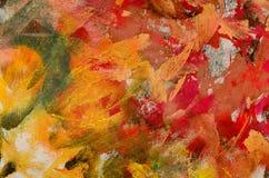 五颜六色的画家调色板 库存图片