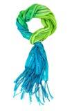 五颜六色的围巾,隔绝在白色 免版税库存照片