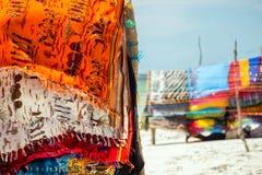 五颜六色的围巾 库存照片