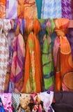 五颜六色的围巾 库存图片